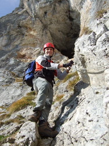 Foto: hofchri / Klettersteig Tour / Hochthron-Klettersteig  / Abstieg über das Mittagsloch ist ein versicherter Steig (A) / 23.02.2009 19:45:32