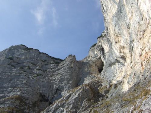 Foto: hofchri / Klettersteig Tour / Hochthron-Klettersteig  / Blick zurück zum Steig und Mittagsloch / 23.02.2009 19:46:00