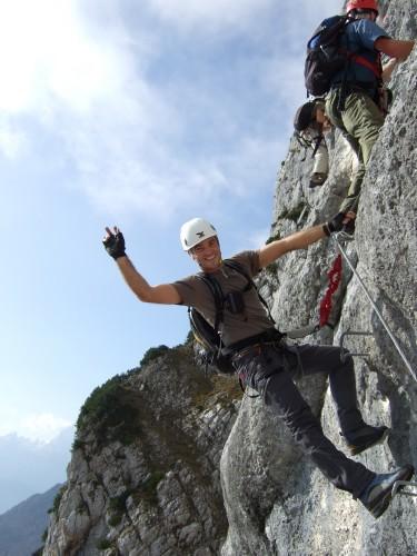 Foto: hofchri / Klettersteig Tour / Hochthron-Klettersteig  / Aufschwung (C) zum Gamsband / 23.02.2009 19:37:08