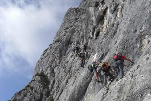 Foto: hofchri / Klettersteig Tour / Hochthron-Klettersteig  / Pfeiler (C) und Genusswandl (B/C) / 23.02.2009 19:38:39