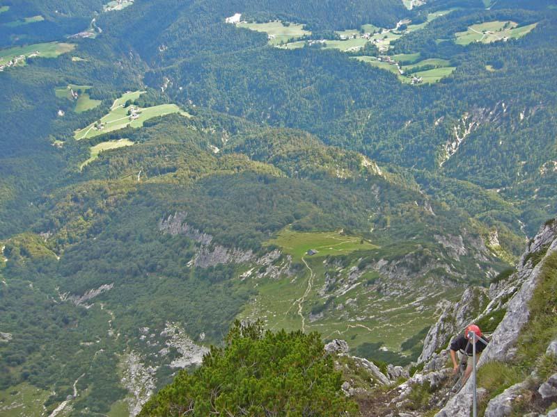 Foto: Schober / Klettersteig Tour / Hochthron-Klettersteig  / Blick zum Scheibenkaser / 07.12.2007 11:28:33
