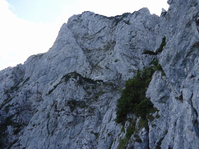 Foto: Günter Siegl / Klettersteig Tour / Pidinger Klettersteig / Schlusspfeiler nach der Querung / 07.10.2011 10:53:37