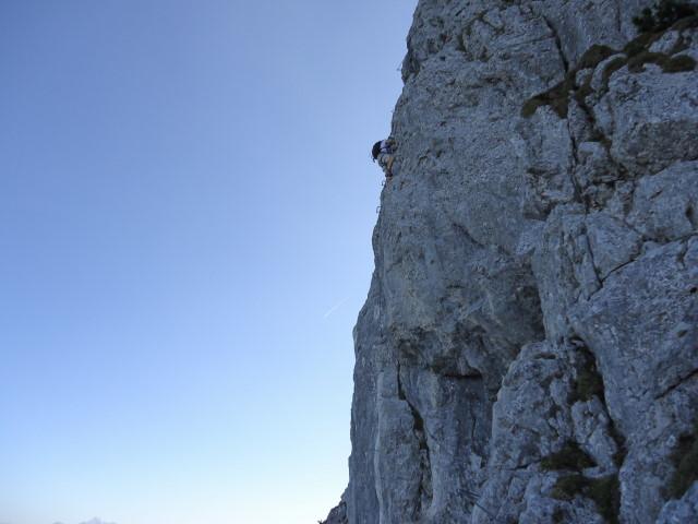 Foto: Günter Siegl / Klettersteig Tour / Pidinger Klettersteig / Schlusswand / 07.10.2011 10:49:03