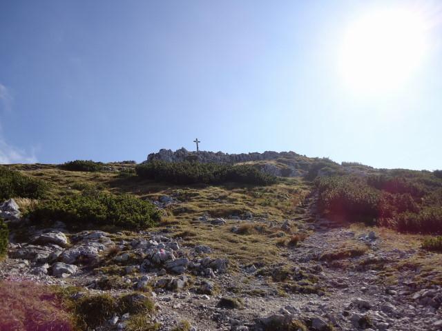 Foto: Günter Siegl / Klettersteig Tour / Pidinger Klettersteig / Vom Ausstieg in 10min zum Gipfel / 07.10.2011 10:48:22