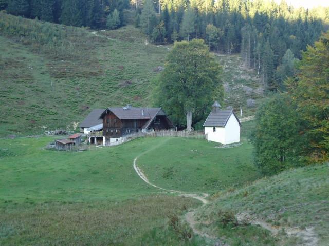 Foto: Günter Siegl / Klettersteig Tour / Pidinger Klettersteig / Die bewirtschaftete Steiner Alm / 07.10.2011 10:46:03