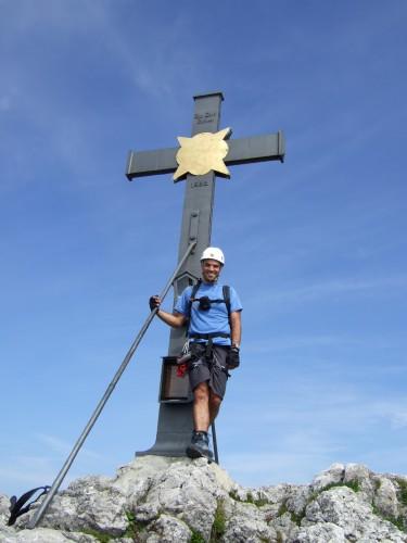 Foto: hofchri / Klettersteig Tour / Pidinger Klettersteig / beim Gipfelkreuz / 21.02.2009 22:59:16