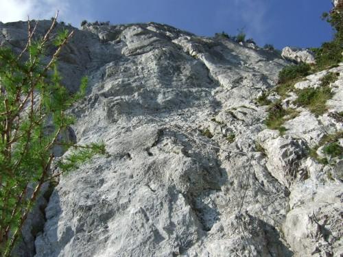 Foto: hofchri / Klettersteig Tour / Pidinger Klettersteig / die Einstiegswand (C) / 21.02.2009 22:54:08