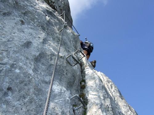 Foto: hofchri / Klettersteig Tour / Pidinger Klettersteig / steile Wand (D) und Steiler Pfeiler (C) / 21.02.2009 22:55:27