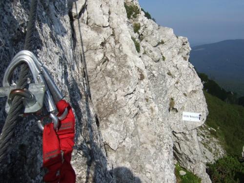 Foto: hofchri / Klettersteig Tour / Pidinger Klettersteig / hier befindet sich der Notausstieg davor / 21.02.2009 22:56:05