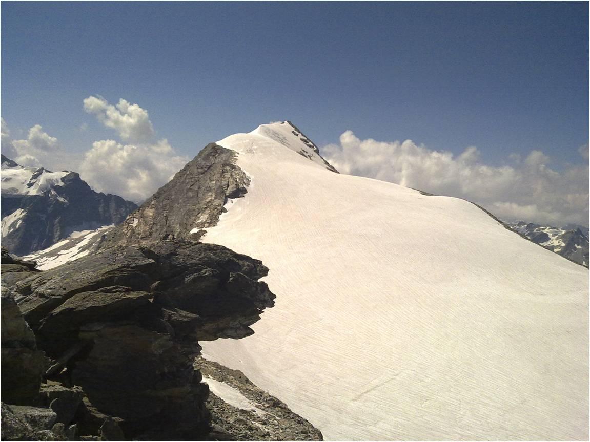 Foto: gumpiand / Wander Tour / Vom Mooserboden auf den Hocheiser / Der Hocheiser vom Gipfel des Grieskogel / 06.10.2009 21:50:54