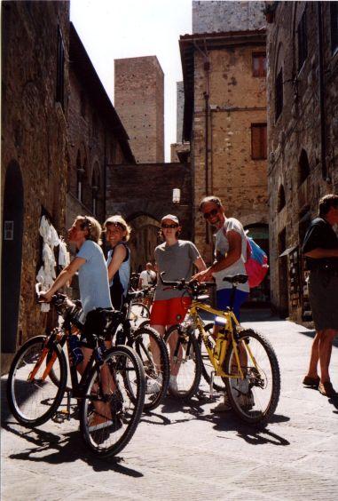 Foto: Manfred Karl / Mountainbike Tour / Von Certaldo nach San Gimignano / San Gimignano / 27.05.2008 20:15:49
