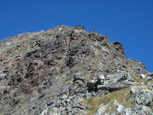 Foto: berglerin / Wandertour / Durch das Debanttal auf den Glödis 3206m / Einstieg zum Südostgrat / 01.08.2009 14:42:53