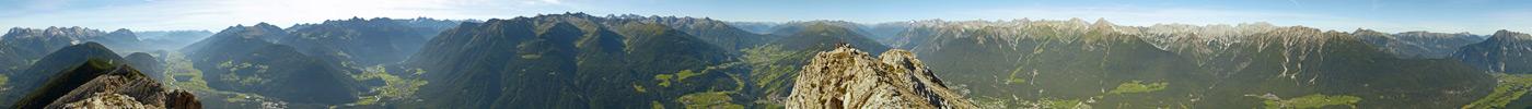 Foto: vince 51 / Wander Tour / Tschirgant / 360° Panorama<br>dieses Panorama in besserer Auflösung und mit einblendbarer Beschriftung siehe:<br>http://www.alpen-panoramen.de/panorama.php?pid=4044 / 10.07.2009 20:17:11