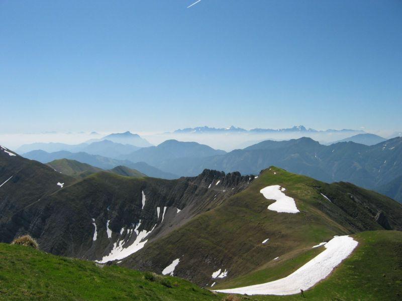 Foto: Gernot Huber / Wander Tour / Latschur / Blick Richtung Dobratsch und Julische Alpen / 28.01.2011 15:12:57