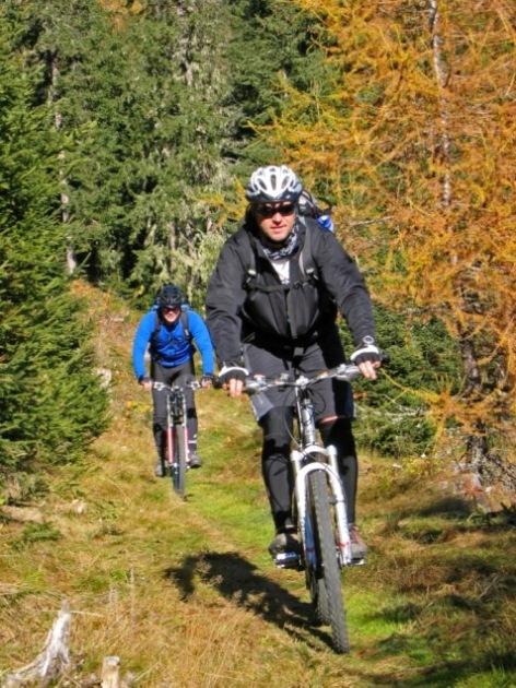 Foto: forstpointler / Mountainbike Tour / Wildkogeltrail / sieht man mir an, dass es Spass macht, oder?  / 11.09.2009 14:50:56