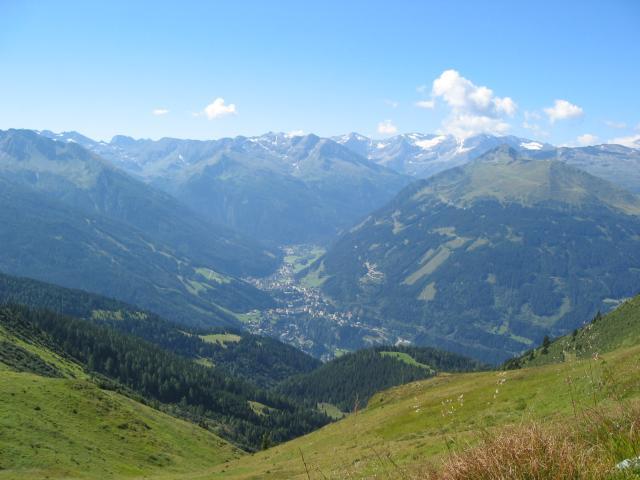Foto: pepi4813 / Wander Tour / Gamskarkogel / Blick von der Toferer Scharte nach Bad Gastein / 13.08.2009 11:24:15