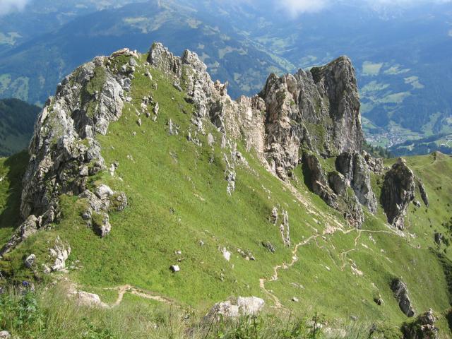 Foto: pepi4813 / Wander Tour / Kreuzkogel - Schuhflicker / Aufstiegsweg vom Gipfel des Schuhflickers / 13.08.2009 11:11:44