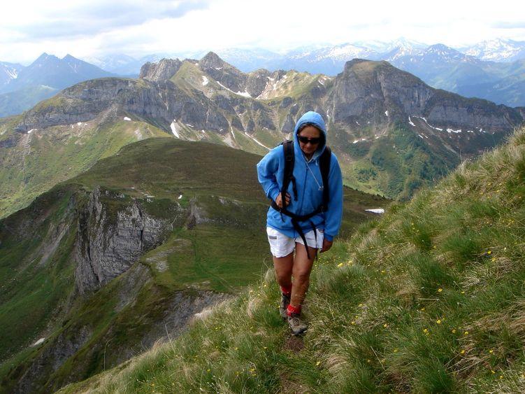Foto: Manfred Karl / Wander Tour / Höllwand / Auf schmalem Steig zum Gipfel / 03.06.2008 15:10:51