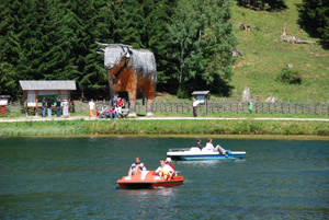 Foto: Romana Koeroesi / Wander Tour / Almenlandtour - Teich- und Sommeralm / Holzochse; Copyright TV Almenland / 30.04.2009 08:05:47