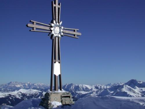 Foto: Kloiber Gabi / Ski Tour / Skitourentipp - Frauenkogel, 2.424 m / Gipfelkreuz am Frauenkogel / 12.09.2007 15:31:11
