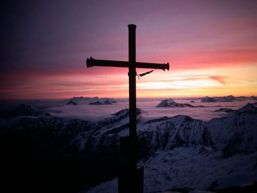 Foto: Kloiber Gabi / Ski Tour / Skitourentipp - Mandlkogel, 2.439 m / Sonnenaufgang Keeskogel / 12.09.2007 15:59:09
