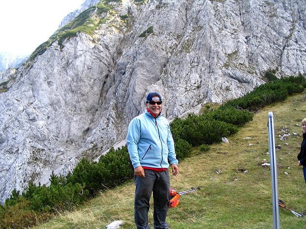 Foto: Andreas Koller / Klettersteig Tour / Hochturm - Nordflankensteig (2088 m) / Am Hainsch Sattel / 18.09.2007 01:25:01