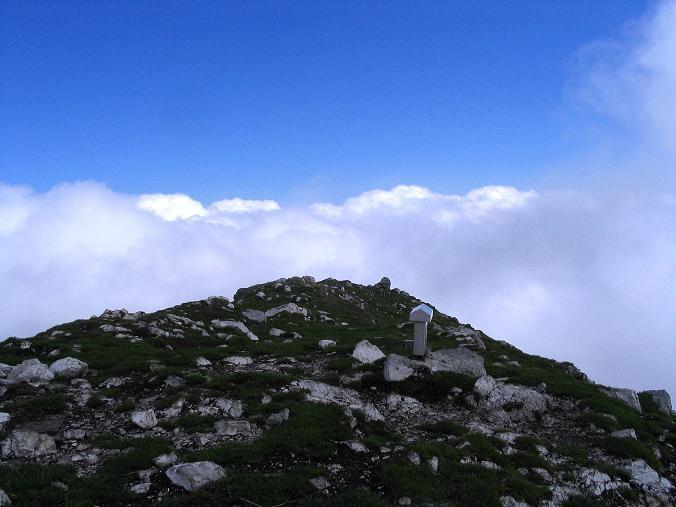 Foto: Andreas Koller / Klettersteig Tour / Hochturm - Nordflankensteig (2088 m) / Der Gipfel des Hochturm / 18.09.2007 01:17:24