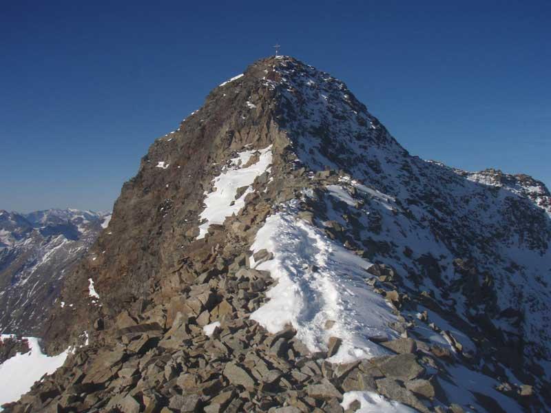 Foto: Grasberger Gerhard / Wander Tour / Über die Elfertürme auf den Habicht / Gipfelgrat Habicht / 24.09.2007 16:43:38