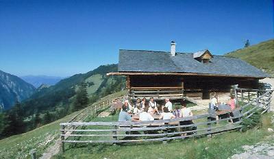 Foto: Kloiber Gabi / Mountainbike Tour / Mountainbikestrecke - Maurachalm-Unterwandalm  / Maurachalm, 1.620 m / 26.09.2007 14:53:18