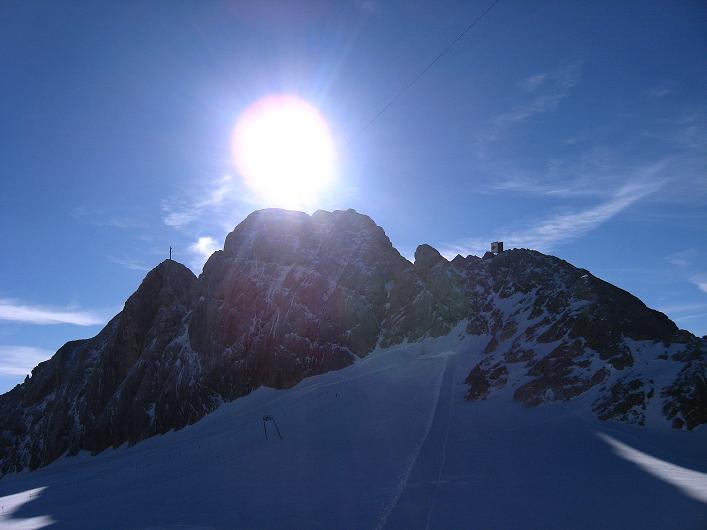 Foto: Andreas Koller / Klettersteig Tour / Westgrat Koppenkarstein neu (2865 m) / Der Kleine und Große Koppenkarstein im Gegenlicht / 28.09.2007 20:01:31
