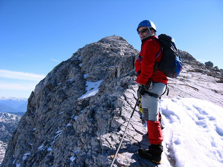 Foto: Andreas Koller / Klettersteig Tour / Westgrat Koppenkarstein neu (2865 m) / Ein paar Meter noch auf den Kleinen Koppenkarstein / 28.09.2007 19:58:08