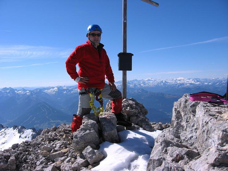 Foto: Andreas Koller / Klettersteig Tour / Westgrat Koppenkarstein neu (2865 m) / Am Koppenkarstein mit Blick in die Hohen Tauern / 28.09.2007 19:51:29