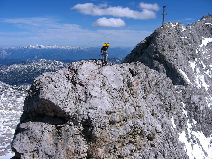 Foto: Andreas Koller / Klettersteig Tour / Westgrat Koppenkarstein neu (2865 m) / Ausgesetzter W-Grat / 28.09.2007 19:47:58