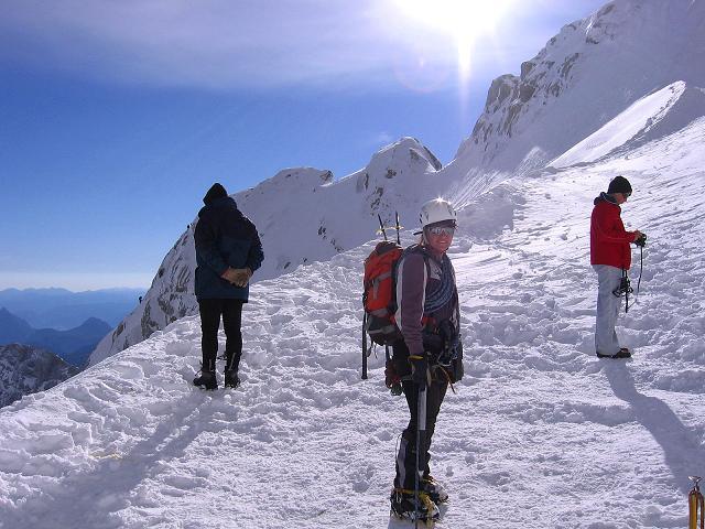 Foto: Andreas Koller / Wander Tour / Hoher Dachstein und Windlegerscharte (2996 m) / Einstieg bei der Randkluft / 01.10.2007 19:39:46
