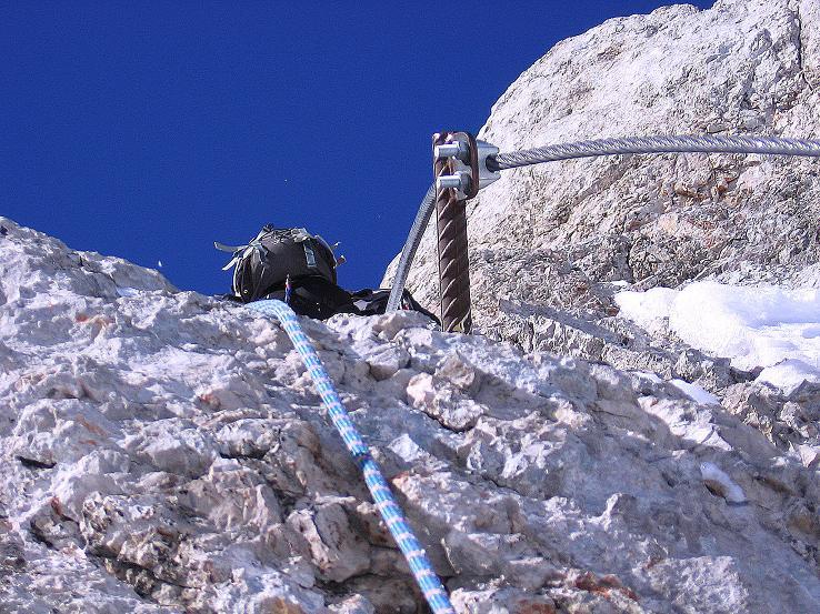 Foto: Andreas Koller / Wander Tour / Hoher Dachstein und Windlegerscharte (2996 m) / Steiler N-seitiger Anstieg / 01.10.2007 19:38:13