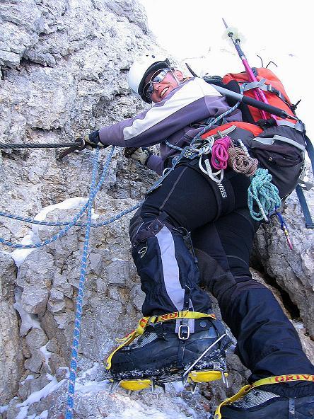 Foto: Andreas Koller / Wander Tour / Hoher Dachstein und Windlegerscharte (2996 m) / Abklettern am W-Grat / 01.10.2007 19:34:32