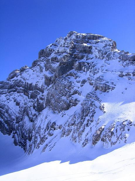 Foto: Andreas Koller / Wander Tour / Hoher Dachstein und Windlegerscharte (2996 m) / Der Hohe Dachstein von NW vom Gosau Gletscher / 01.10.2007 19:33:13