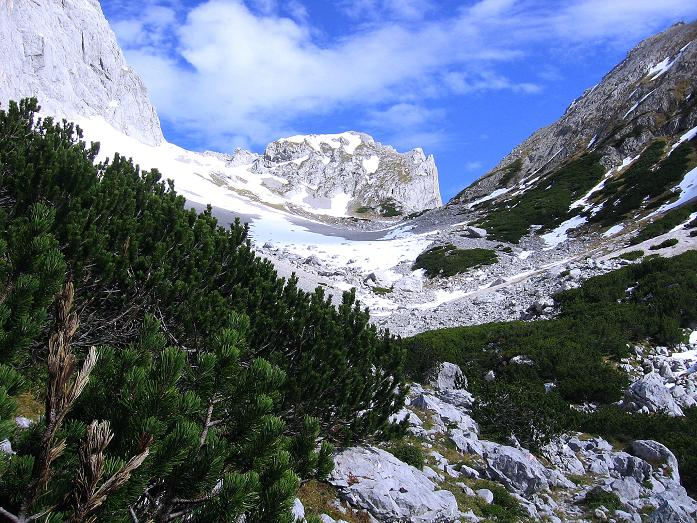 Foto: Andreas Koller / Wander Tour / Hoher Dachstein und Windlegerscharte (2996 m) / Aufstieg zum Tor / 01.10.2007 19:26:59