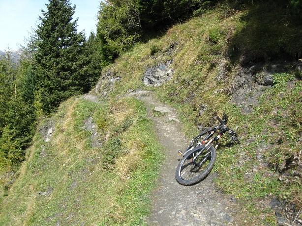 Foto: mucho / Mountainbike Tour / Ramsau Hainzenberg Gerlosstein Kotahornalm Karlalm Brandberg Mayrhofen / Schiebestrecke zwischen Kotahornalm und Karlalm / 02.10.2007 22:19:26