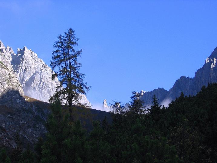 Foto: Andreas Koller / Klettersteig Tour / Steinsee Klettersteig (2650 m) / Der erste grandiose Blick in das Klettergebiet / 09.10.2007 01:54:16