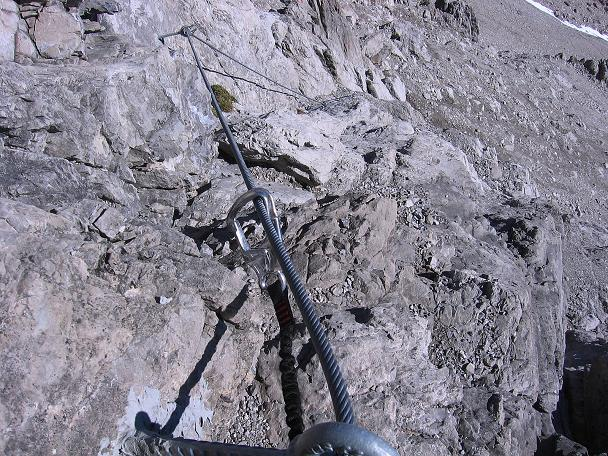 Foto: Andreas Koller / Klettersteig Tour / Steinsee Klettersteig (2650 m) / Leichtere Passagen zu beginn / 09.10.2007 01:51:24