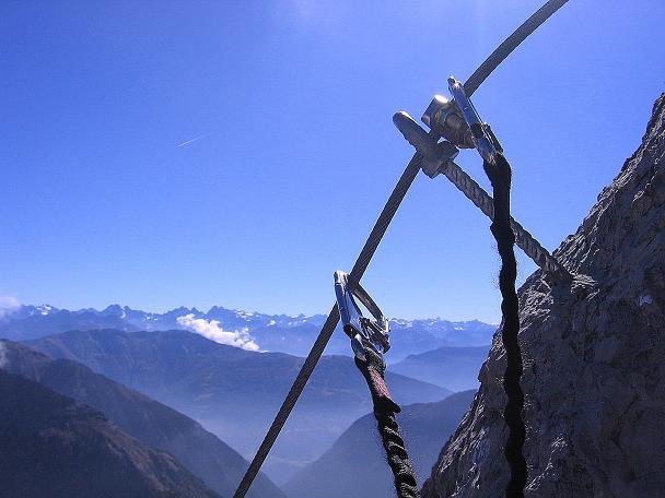 Foto: Andreas Koller / Klettersteig Tour / Steinsee Klettersteig (2650 m) / Ausblick nach S in die Ötztaler Alpen / 09.10.2007 01:48:08