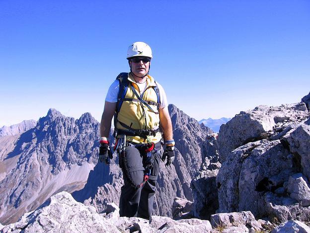 Foto: Andreas Koller / Klettersteig Tour / Steinsee Klettersteig (2650 m) / Am Gipfel der Steinkarspitze / 09.10.2007 01:46:44