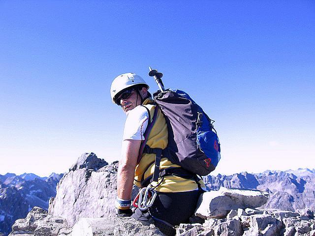 Foto: Andreas Koller / Klettersteig Tour / Steinsee Klettersteig (2650 m) / Am Gipfel der Steinkarspitze / 09.10.2007 01:45:55