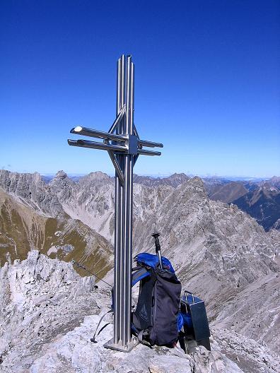 Foto: Andreas Koller / Klettersteig Tour / Steinsee Klettersteig (2650 m) / Beim Klettersteigkreuz / 09.10.2007 01:45:13