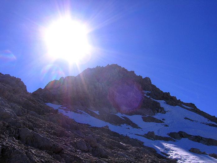 Foto: Andreas Koller / Klettersteig Tour / Steinsee Klettersteig (2650 m) / Die NO-seitige Abstiegsflanke / 09.10.2007 01:40:56