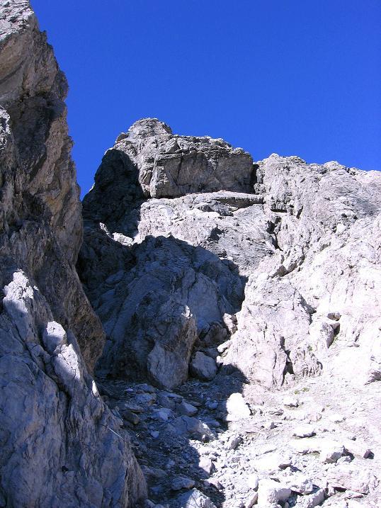 Foto: Andreas Koller / Klettersteig Tour / Steinsee Klettersteig (2650 m) / Die Abstiegsrinne / 09.10.2007 01:39:39