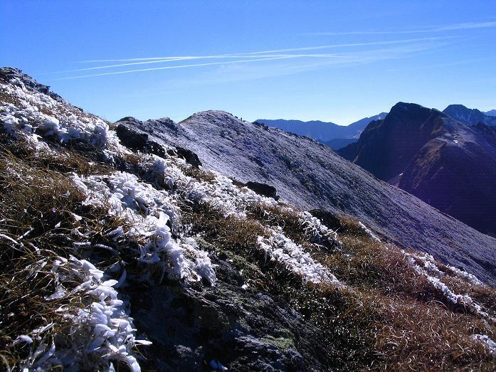 Foto: Andreas Koller / Wander Tour / Aus dem Schöttlgraben auf den Hohenwart (2363 m) / Der Grat von der Eiskarspitze ins Glattjoch / 17.10.2007 02:19:35
