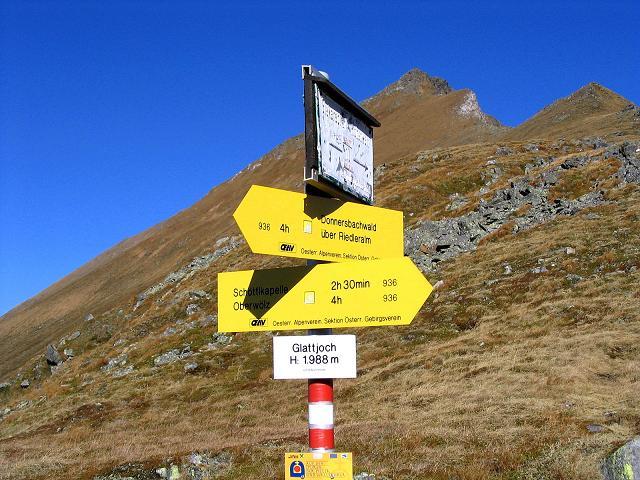 Foto: Andreas Koller / Wander Tour / Aus dem Schöttlgraben auf den Hohenwart (2363 m) / Das Glattjoch / 17.10.2007 02:18:19