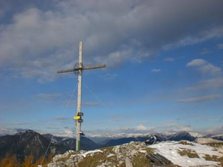 Foto: dobratsch11 / Wander Tour / Kobesnock / Der Gipfel mit dem großen Gipfelkreuz. / 23.10.2007 20:54:37